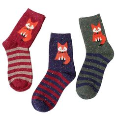 Woodland Creatures Fox Socks 1 pair  #decor #owls #supernatural #cheap #creatures #gifts #woodland #harrypotter #cute #jewelry