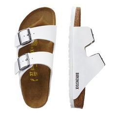 cbba36c8cd4d Birkenstock Birko-Flor Arizona Sandals - TravelSmith White Platform Shoes