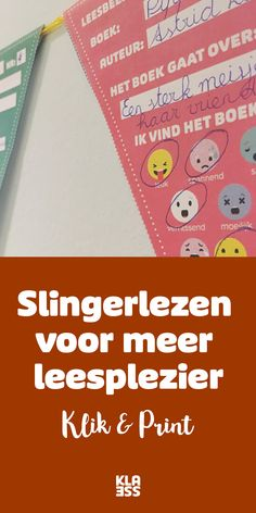 Om vlot te leren lezen moeten kinderen veel lezen, 'leeskilometers' afleggen. Met slingerlezen motiveer je hen. #leesplezier #leesmotivatie Back 2 School, Pre School, 21st Century Skills, Spelling, I Am Awesome, Classroom, Letters, Teaching, Writing