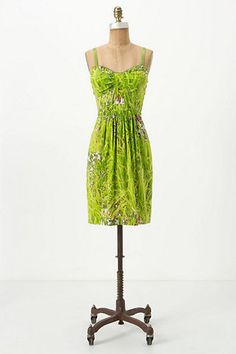 Anthropologie Lawnscape Dress Tracy Reese Silk Grass Photo Print| eBay