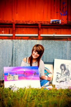 Senior picture sorrounding myself with my artworks... So doing this!