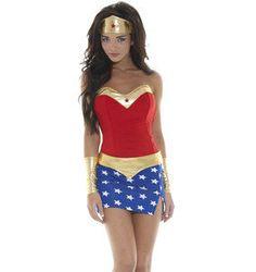 SEXY Wonderwoman Super Hero Women's Halloween Costume S/M