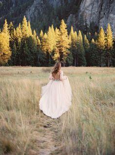Autumn Bridal Session in Yosemite National Park