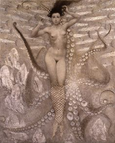 """Aquarium4"" by Toshiyuki Enoki. Reminiscent of a Klimt."