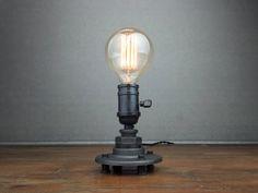 Minimalist Desk Lamp Industrial Table Lamp by newwineoldbottles