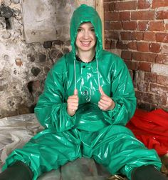 Green Plastic Rainwear