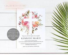 Baptism Invitation Girl, Baptism Invitation Template, Baptism Invitation Printable, Christening Invitation Template, Christening Invite BP01