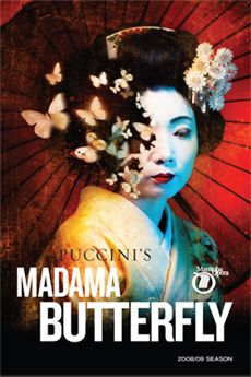 Madama Butterfly poster for Manitoba Opera season, 2009. Designed by McKim Cringan George. #opera