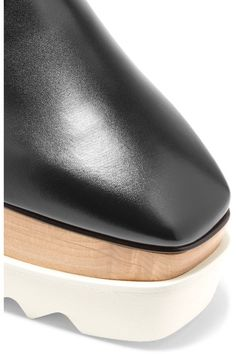 Stella McCartney - Faux Glossed-leather Platform Brogues - Black - IT38.5