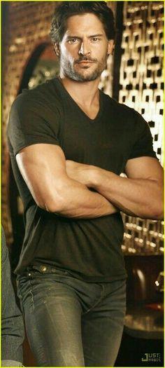 Joe Maganiello as Alcide Herveaux - True Blood Keanu Reeves, Joe Manganiello True Blood, Pittsburgh, Actrices Sexy, Hot Actors, Good Looking Men, Man Crush, Sensual, Gorgeous Men