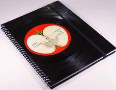 DIN A5 -  Notizbuch,The Beatles, Cover aus Schallplatte,... - ein Designerstück von Aurum bei DaWanda