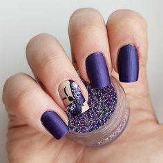 Domi Králiková (@domi_nailart) Purple butterfly🦋💅 #purplenails #nailart #nailslover #byavon #avoncosmetics #mattenailart #matte #mattetopcoat #purplenailart #purplenailsart #butterfly #butterflynailart #satinpurple #nailartlover #followme #follownails #pinit #pinnails