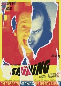 the shining stanley kubric jack nicholson movie amazing poster