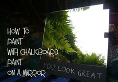Quick and easy way to paint with chalkboard paint on a mirror! Find out how right here!