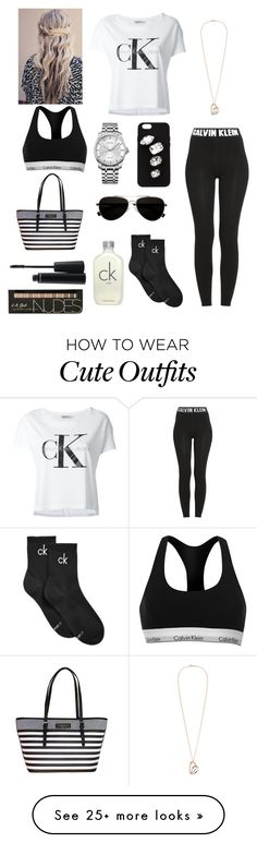 """Black and white Calvin Klein outfit"" by emily-colquitt on Polyvore featuring Calvin Klein Jeans, Calvin Klein, STELLA McCARTNEY and MAC Cosmetics"