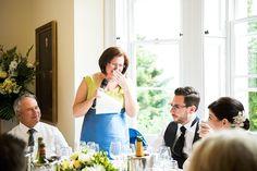 Emotional wedding photography Mother delivers speech at elegant summer wedding Pembroke Lodge Surrey © Fiona Kelly Photography