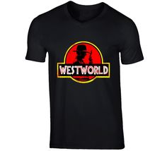 Westworld Jurassic Park T Shirt Jurassic Park T Shirt, Tv Series, How To Make, Cotton, Stuff To Buy, Shirts, Dress Shirts, Shirt