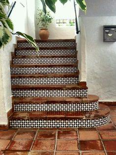 Gradas con azulejo (Outdoor Wood Paint)