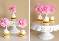 Toppers de moldes de papel en Material de decoración para cupcakes y magdalenas