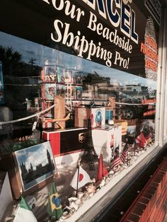 Our January window . we can Ship from Here to There and we can Ship This or That! Ups Boxes, Store Windows, January, Ship, Display Cases, Ships, Shop Windows, Window Displays