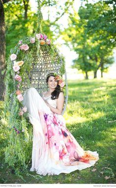 Floral bridal ideas on theprettyblog.com | Floral Design & Styling: Anli Wahl | Photographer: Adene Nieuwoudt | Dress: Alana van Heerden | Lisa Brown : Make-up & hair
