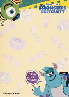 Disney Monsters University mini memo