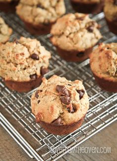 Peanut Butter Oatmeal Chocolate Chip Cookie Muffins by Love From the Oven