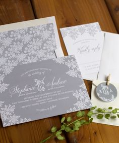 Vintage lace wedding invitation suite #vintage #wedding
