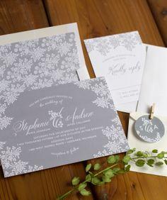 Vintage lace wedding invitation suite #vintage #wedding