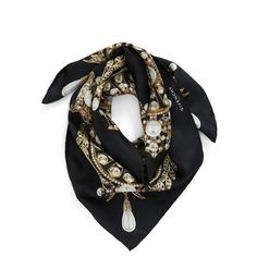 Women's Givenchy 'Jewels' Silk Twill Square Scarf (10.590 CZK) ❤ liked on Polyvore featuring accessories, scarves, print scarves, silk twill scarves, square scarves, patterned scarves and givenchy scarves