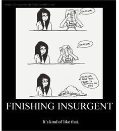 Reading Insurgent #Divergent. I just couldn't resist. This is just too accurate! xD