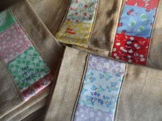 linen cloth napkins set of four vintage prints by BurroInteligente
