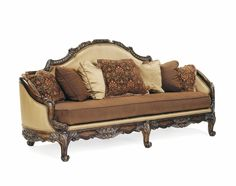Brianza Hand Carved Wood Antique Style Formal Living Room Set Brown Home Furniture
