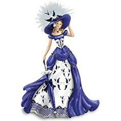 Blue Willow China Pattern-Inspired Lady Figurine: Rowena by The Hamilton Collection