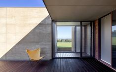 Can you believe this is prefab construction? Entrance to custom-designed house in Inverloch, Victoria
