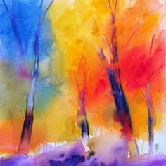 "Saatchi Online Artist: Alessandro Andreuccetti; Acrylic, 2012, Painting ""Color simphony in the forest"""