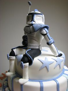 Star Wars,Clone Wars Captain Rex by Tania's Sweet Cakes, via Flickr