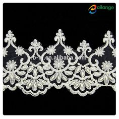 white flower beaded embroidery lace for garment decoration, View embroidery lace for garment decoration , Bailange Product Details from Guangzhou City Haizhu Dist. Fengyang Bailange Clothing Ingredients Firm on Alibaba.com