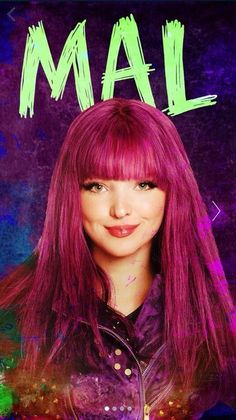 Dove Cameron as Mal she is my fav character of all time Disney Channel Descendants, Descendants Cast, Stars Disney, Serie Disney, Disney Channel Movies, Disney Movies, Mal And Evie, Cameron Boyce, High School Musical