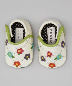 Look at this #zulilyfind! White Flower Trellis Leather Booties by Goody Goody #zulilyfinds