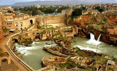 Susa waterfall or Sushtar hydraulic system(UNESCO world heritage) is one of the historical sites located in Khuzestan,Iran.The site dates back to 5th century BC.The construction of the site began during Achaemenid era and improved by the Sassanid daynsty.
