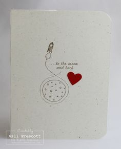 Stampin' Up! Love you to the moon (and back) ...