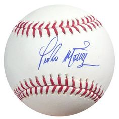 Pedro Martinez Autographed MLB Baseball PSA/DNA . $119.00. This is an Official Major League Baseball that has been hand signed by Pedro Martinez. The autogrpah has been authenticated by PSA/DNA. It comes with their sticker and matching certificate of authenticity.