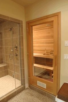 38 easy and cheap diy sauna design you can try at home by shannon w. Feist posted on july 20 2018 june 11 2019 he prospect of building a sauna in the home may initially sound daunting but in fact . Basement Sauna, Basement Bathroom, Basement Remodeling, Small Bathroom, Master Bathroom, Bathroom Ideas, Sauna Room, Bath Ideas, Budget Bathroom