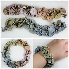 subtle colours - bracelets this time by Anna Jour, via Flickr