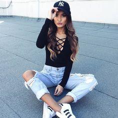 Hailey ripped jeans in light wash denim SHOWPO Fashion Online