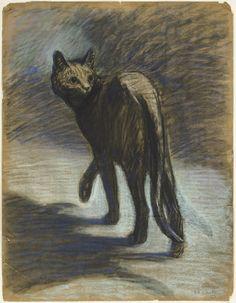 Prowling Cat, Theophile Alexandre Steinlen
