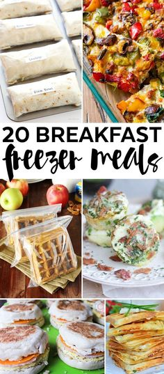 Freezer Cooking – 20 Breakfast Freezer Meals – Add these easy make ahead breakfast ideas into your meal plan rotation! Freezer Cooking – 20 Breakfast Freezer Meals – Add these easy make ahead breakfast ideas into your meal plan rotation! Breakfast And Brunch, Breakfast Crockpot, Healthy Make Ahead Breakfast, Make Ahead Breakfast Burritos, Quick Breakfast Ideas, Paleo Breakfast, Brunch Food, Meal Prep Breakfast, Make Ahead Smoothies