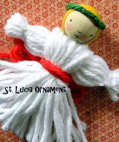 The Child's Paper: Happy St. Lucia's Day & A St. Lucy Ornament Tutorial