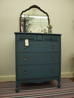 Dresser painted with Aubusson Chalk Paint® and a dark wax glaze and done by Studio 184 in Stoughton WI.
